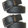 Sondagar Arts Black and Brown PU Leather Reversible Belt - Combo of 2 (Free Size)
