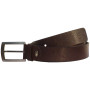 Sondagar Arts  Formal Dark Brown Italian Leather Belt For Men