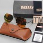 Basssy Yellow Aviator Sunglasses