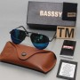 Basssy Blue Aviator Sunglasses