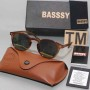 Basssy Orange Oval Frame Sunglasses
