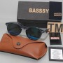 Basssy Blue Oval Frame Sunglasses