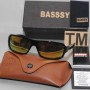 Basssy Yellow Rectangle Sunglasses